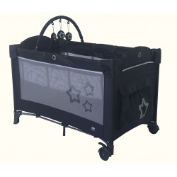 Travel cot Dream Star Dark Gray