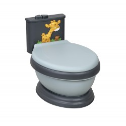 Musical Potty WC Giraffe Gray-Black