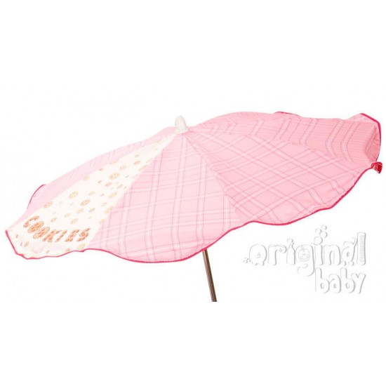 Sombrilla Silla Cookies rosa