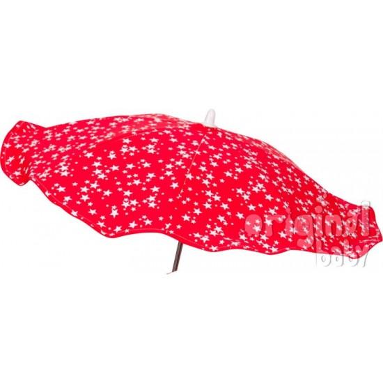 Sombrilla bebé Estrellitas rojo
