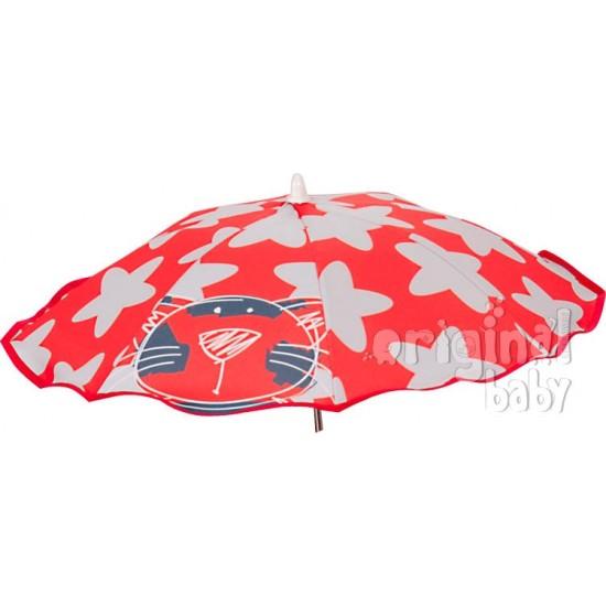 Sombrilla bebé Gatito rojo
