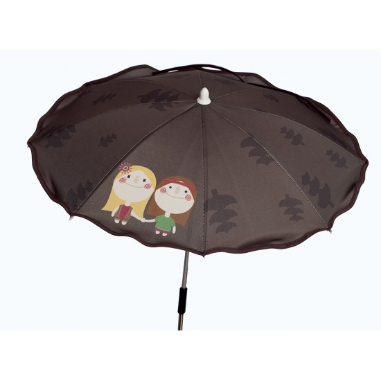 Sombrilla silla paseo Hippies Choco