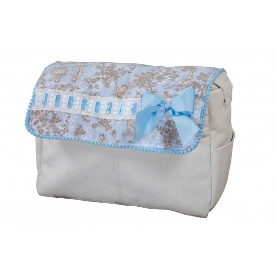 Bolso de bebé polipiel Paseos de Toile Azul