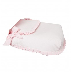 Capazo coverlet love Pink