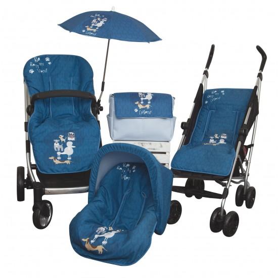 Colchoneta silla paseo Dogs Azul
