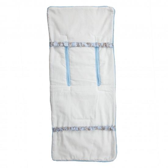 Colchoneta lígera Mclaren reversible Paseos de Toile Azul  (cubre arnés incluido)