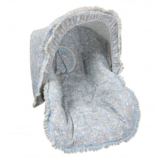 Colchoneta grupo 0  Caramelo Azul (cubre arnés y capota de regalo)