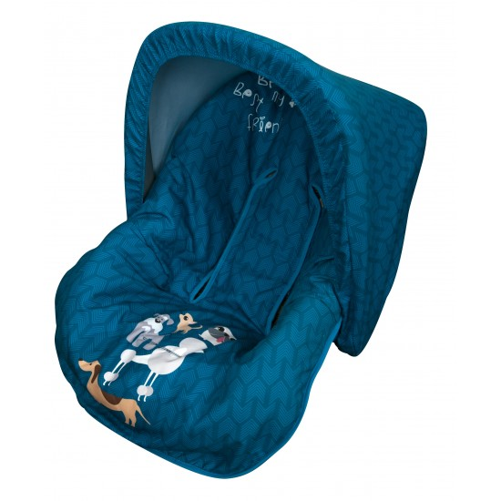 Colchoneta grupo 0 Dogs Azul (Capota de regalo)