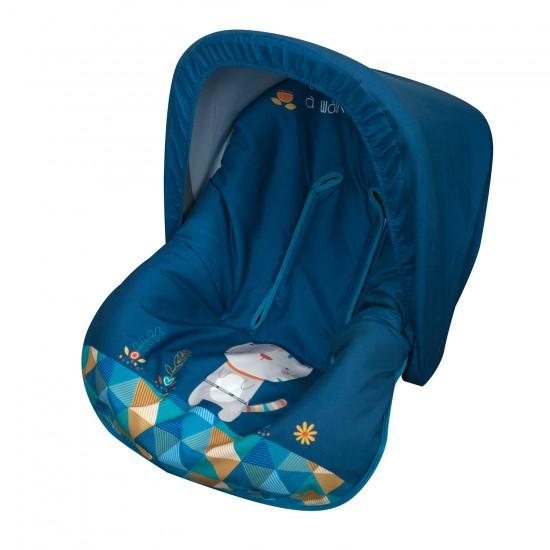 Colchoneta grupo 0 Kitty Azul (Capota de regalo)