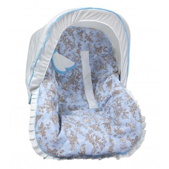 Colchoneta grupo 0 Paseos de Toile Azul (cubre arnés y capota de regalo)