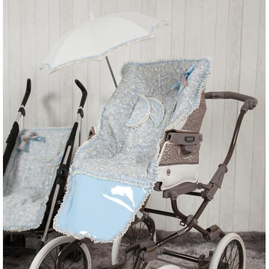 Sombrilla silla paseo Caramelo Azul