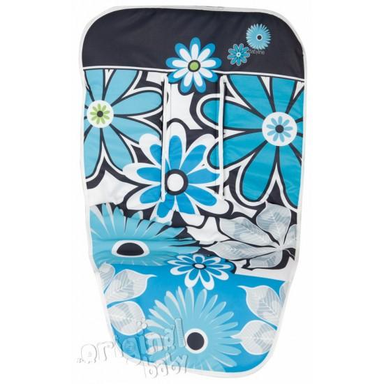 Colchoneta silla paseo Flores turquesa