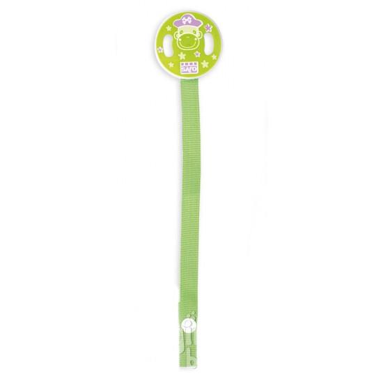 Cadena con cinta para chupete verde