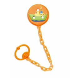 Pacifiers chain holder 3D Orange