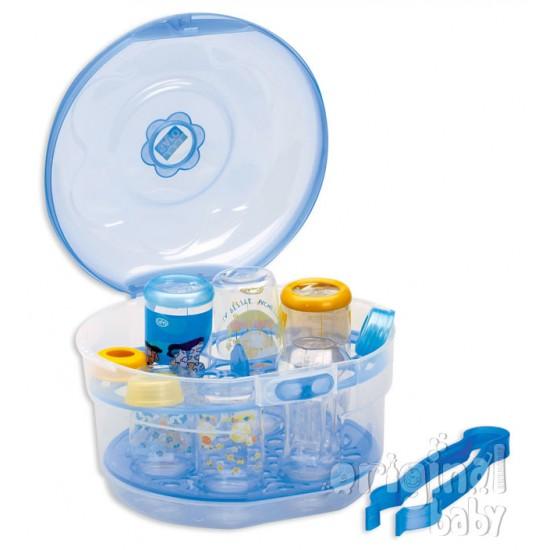 Esterilizador para microondas azul