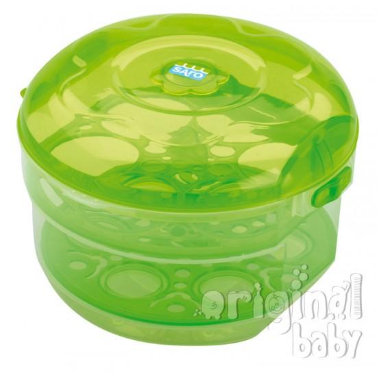 Esterilizador para microondas verde