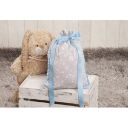 Snack bag blue gray stars