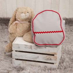 Nursery backpack poly red skin Gray
