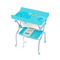 Folding bath bidet, cat model blue