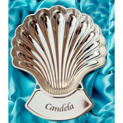 Baptismal shell bathed in silver