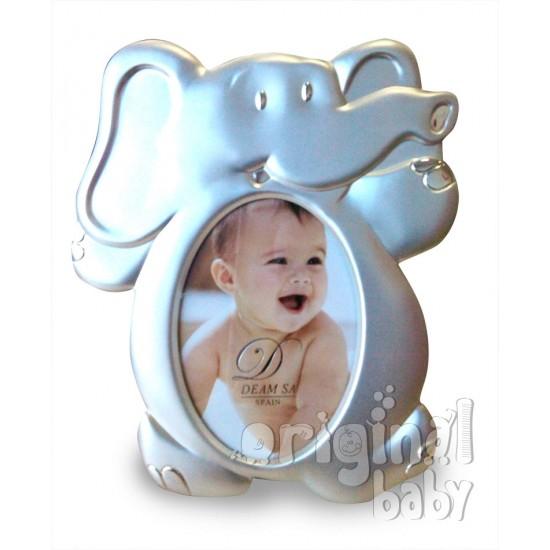 Marco de fotos de plata Elefante