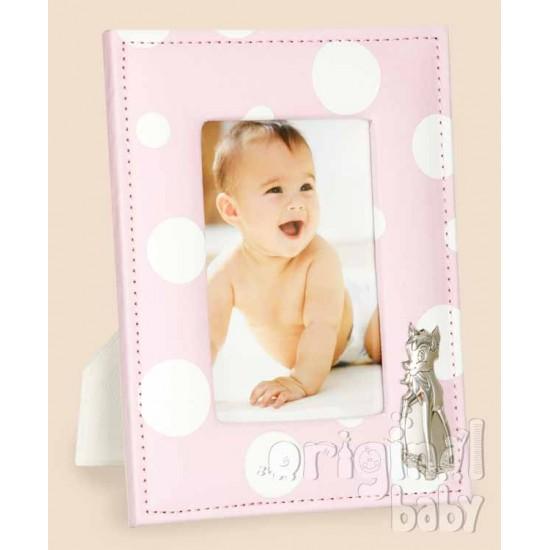 Marco de fotos de tela bambi rosa