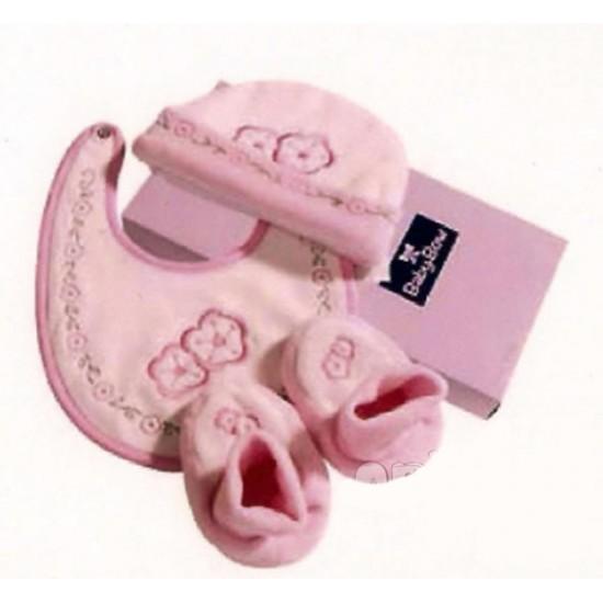 Set de regalo de 3 piezas recién nacido rosa
