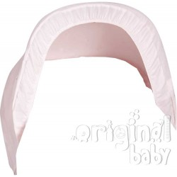 Pique pink baby carrier hood