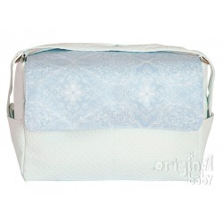Clouds blue leather bag