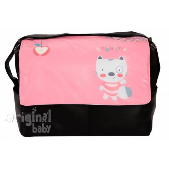 Bolso bebé de Piel Ardilla rosa