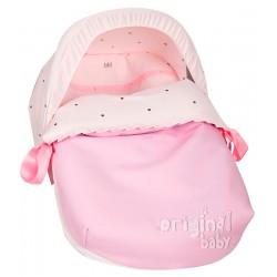 Saco de bebé para grupo 0 Nuevo Bodoque Rosa.Capota de regalo