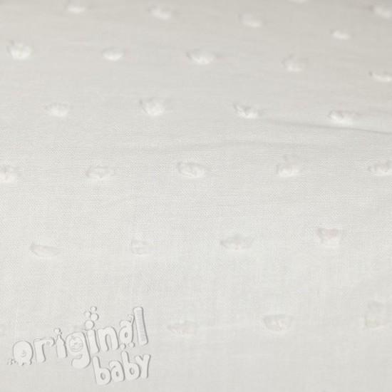 Bolso de paseo de piel Algodones Blanco