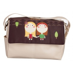 Bolso bebé polipiel Hippies Choco