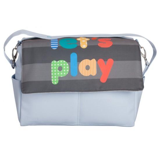 Bolso bebé polipiel Lets Play Azul