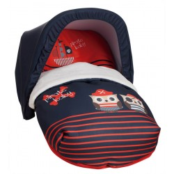 Baby Carrier Red Pirates sack (including top)