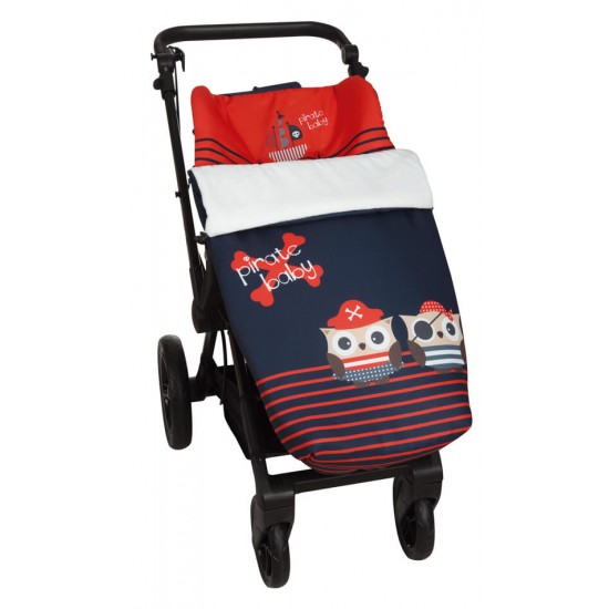 Saco para la silla de paseo  Piratas Rojo