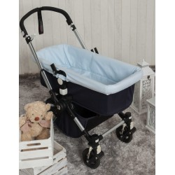 Piqué bassinet covers Blue