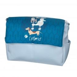 Bolso bebé polipiel Dogs Azul