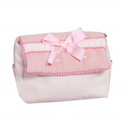 Bolso de bebé polipiel Caricias Rosa