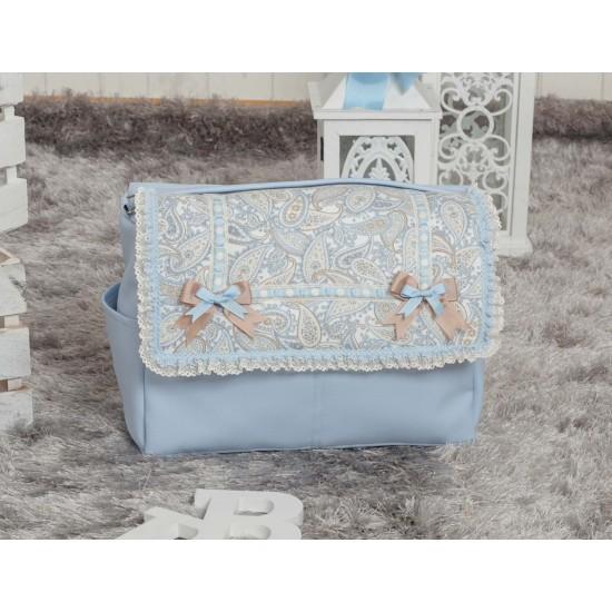 Bolso de bebé polipiel Caramelo azul