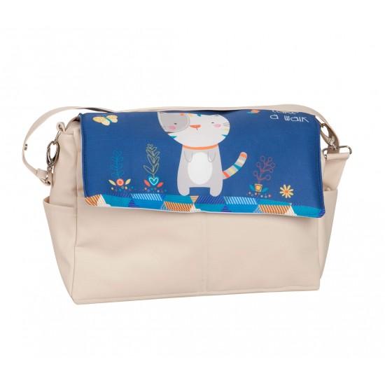 Bolso bebé polipiel Kitty Azul
