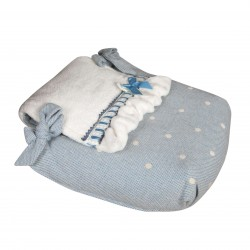 Bugaboo carrycot coverlet caricias blue