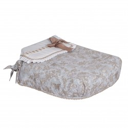 Bugaboo carrycot coverlet rides toile gray