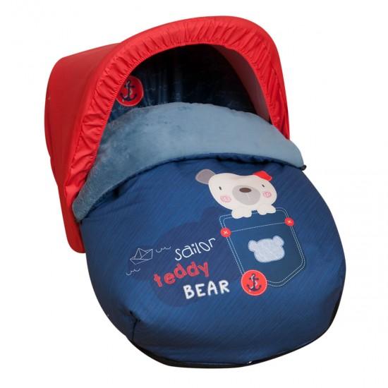 Saco para el grupo 0 Teddy Bear (capota regalo)