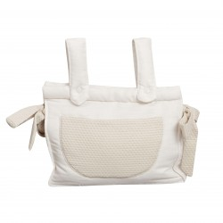 Beige leatherette baby breadbox Destellos