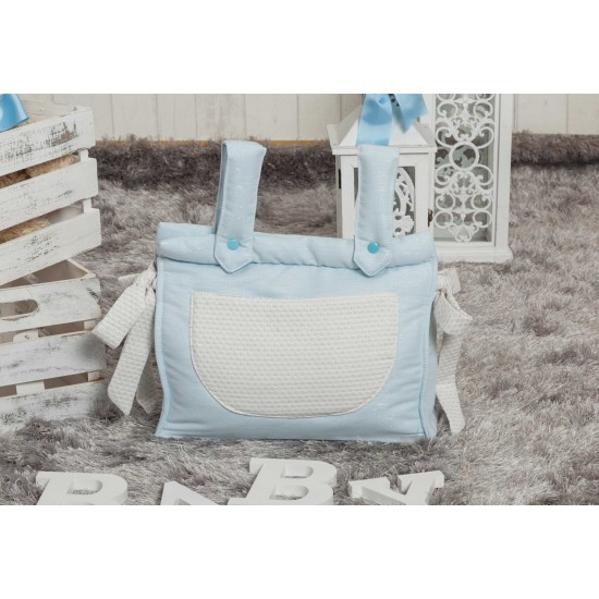 Panera bebé polipiel Destellos Azul