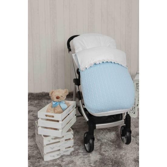Saco bebé para Bugaboo Pompones Azul