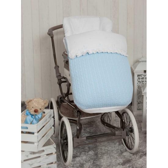 Saco para la silla de paseo Pompones Azul
