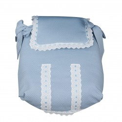 Classic Blue Bedspread car carrycot