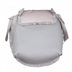 Pink Dots coverlet Carrycot